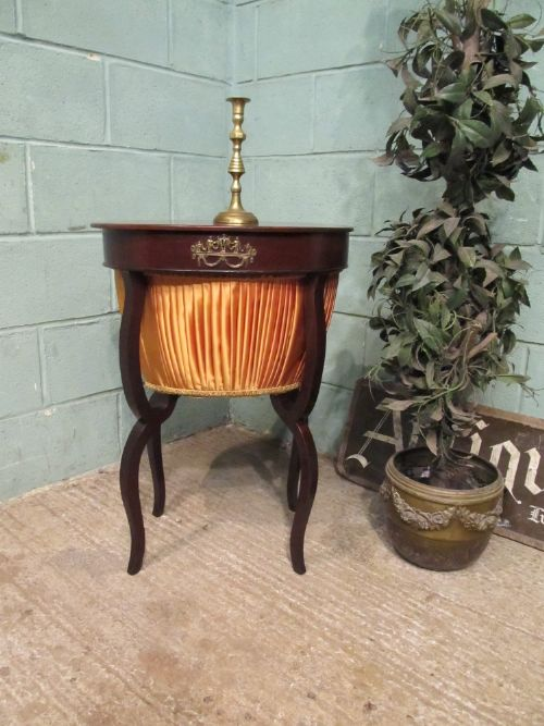 antique victorian mahogany sewing work box table c1880