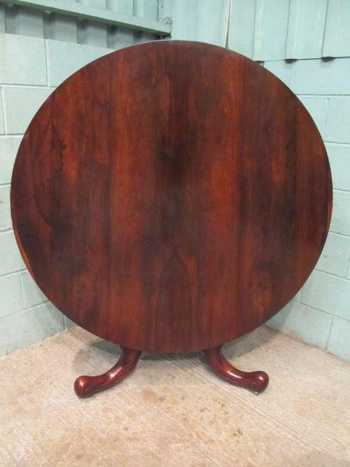 antique victorian rosewood tilt top breakfast table seats 6 8 c1880