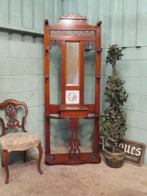 antique victorian mahogany hall stand c1890