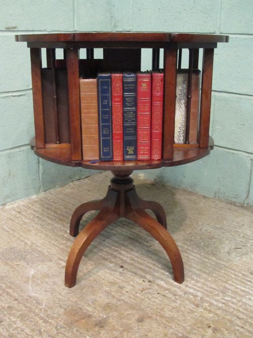 Nice Item Saved. The ANTIQUE LATE VICTORIAN MAHOGANY REVOLVING BOOKCASE TABLE ...
