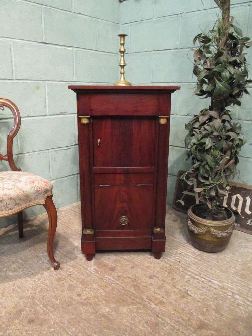 antique regency mahogany side cabinet c1820