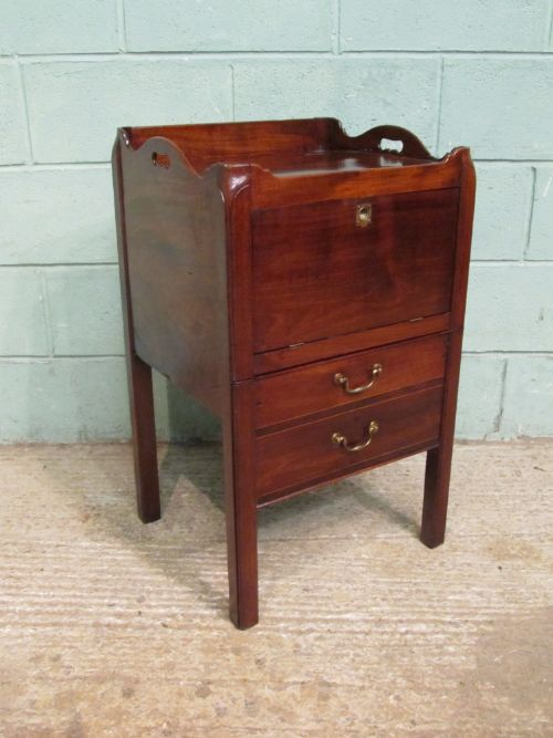 antique 18th century mahogany bedside cabinet c1780