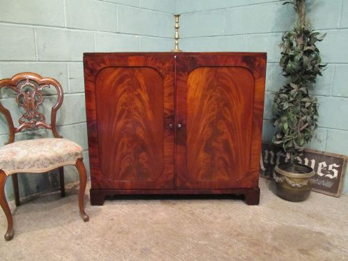 antique georgian regency flamed mahogany low press c1820