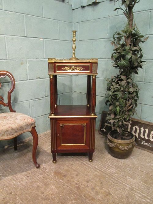 antique french mahogany and ormolu cabinet c1900