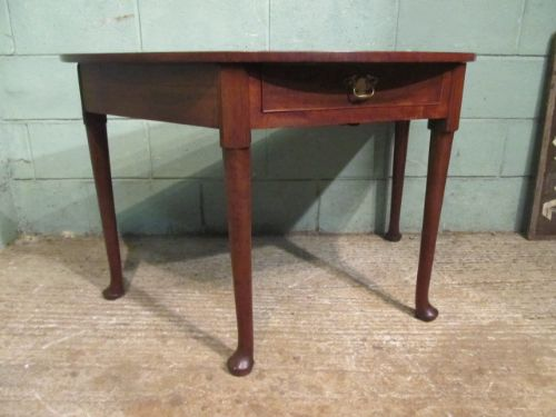 Antique georgian mahogany demi lune side table c1780 for Table demi lune fer forge