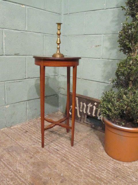 antique edwardian satinwood lamp table c1900