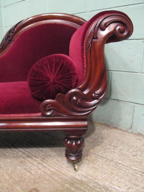 Antique william 1v mahogany chaise lounge c1830 337113 for Antique chaise lounge prices