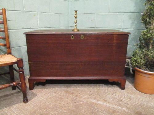 antique georgian oak blanket chest c1780