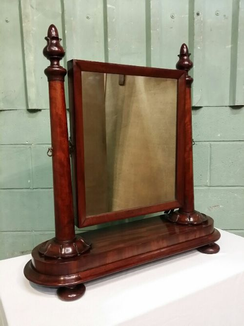 antique william 1v mahogany toilet mirror c1830