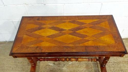Thumbnail picture of: ANTIQUE VICTORIAN BURR WALNUT SPECIMEN TABLE C1880
