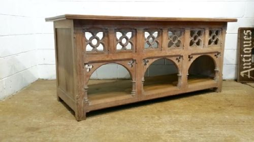 Thumbnail picture of: ANTIQUE VICTORIAN GOTHIC LIMED OAK COUNTER , SERVING TABLE C1890