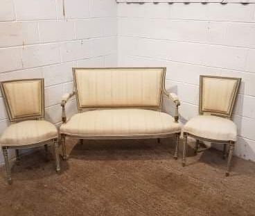 antique french empire painted salon suite c1900