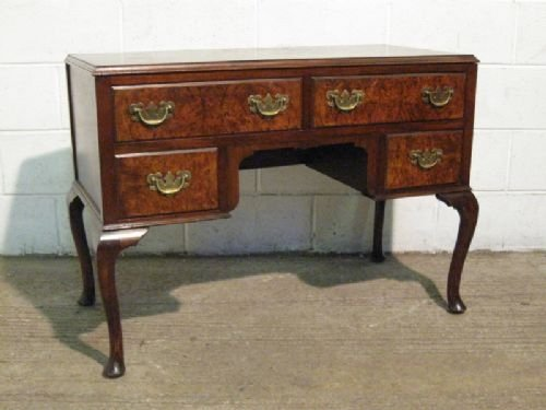 antique edwardian mahogany walnut lowboy desk