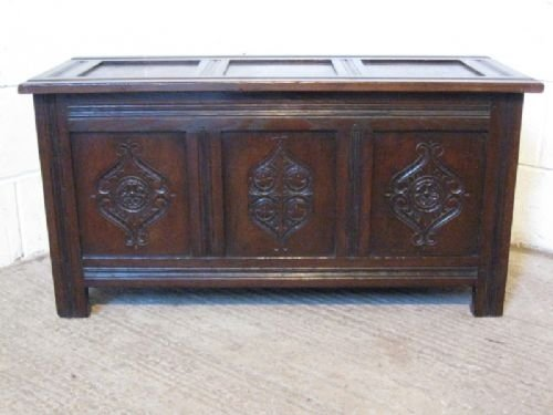antique victorian country oak coffer c1860