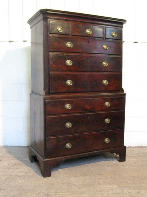 lovely antique georgian mahogany chest on chest c1780