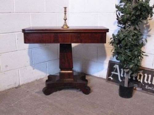 antique early victorian mahogany fold over games tea table c1840