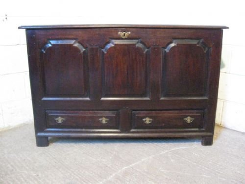 george 1st country oak coffer mule chest c1720