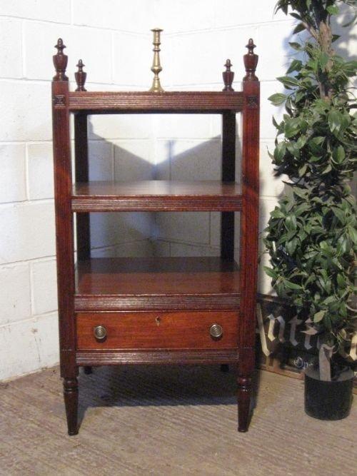 superb regency antique mahogany whatnot c1800