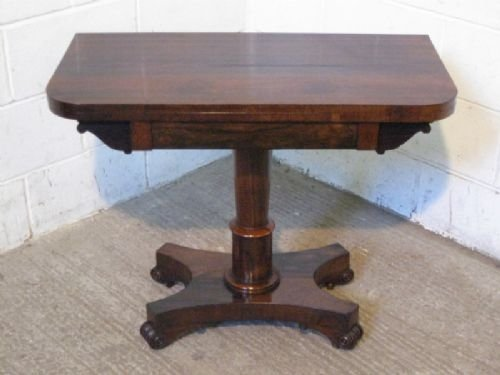regency rosewood fold over games tea table c1830