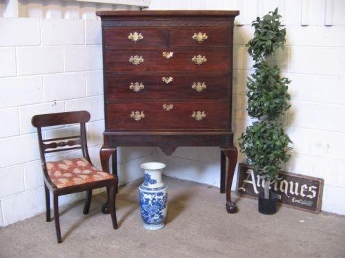 georgian mahogany chest on stand c1780