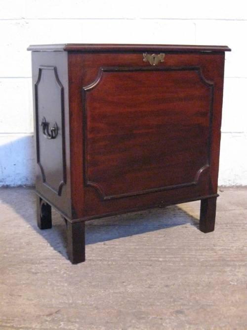antique georgian mahogany cellaret wine cooler c1780