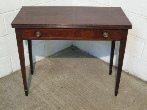 antique regency mahogany fold over games tea table c1800