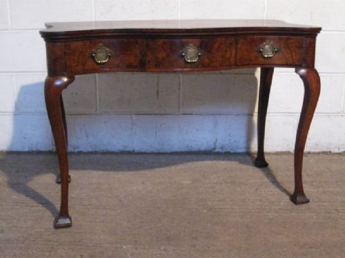 gorgeous victorian walnut serpentine low boy writing desk side table c1860