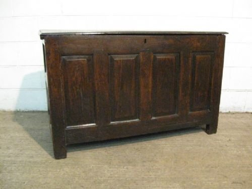 antique charles 11 17th century country oak coffer c1660