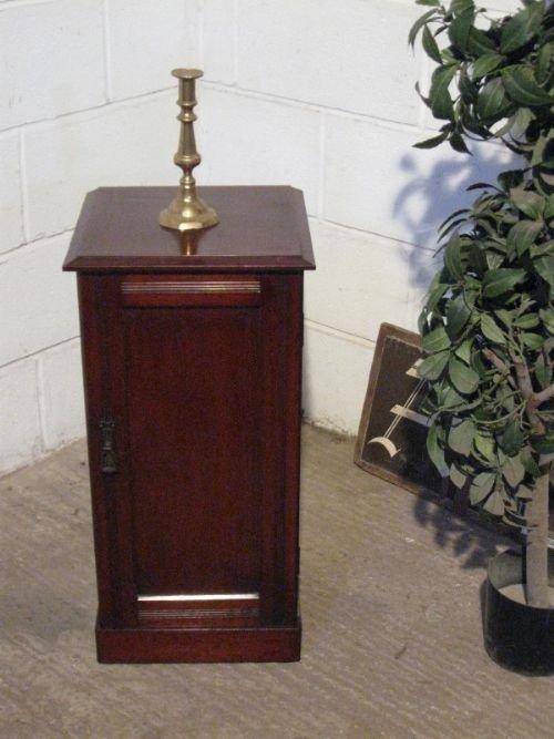 antique edwardian mahogany pot cupboard cabinet c1900