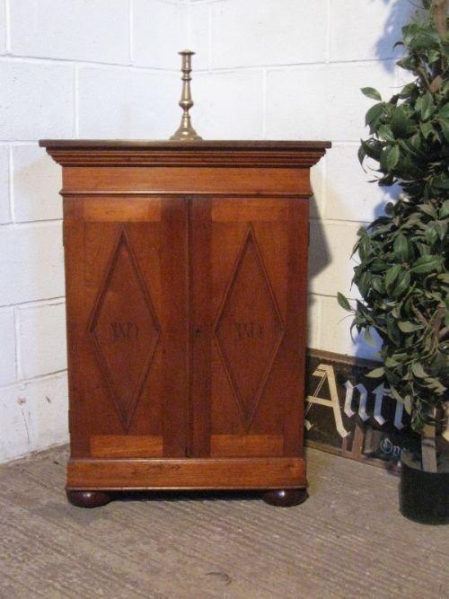 antique edwardian arts crafts walnut cabinet c1900