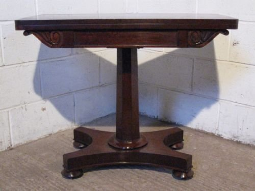antique regency mahogany fold over games tea table c1800