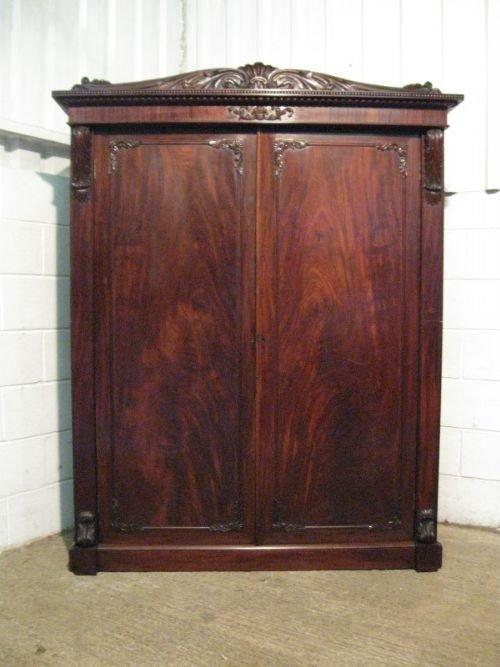 stunning antique william 1v mahogany wardrobe compactum linen press c1820