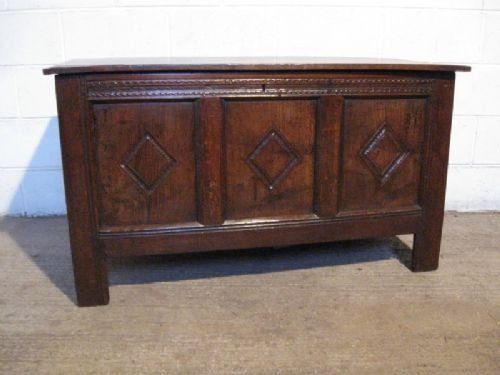 antique james 11 country oak coffer c1680