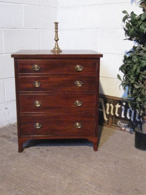 antique georgian mahogany small cabinet commode c1780 46317. Black Bedroom Furniture Sets. Home Design Ideas