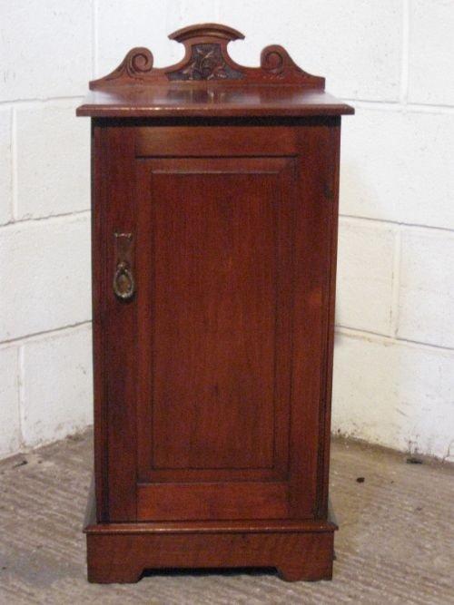 edwardian art nouveau mahogany bedside cabinet pot cupboard c1890
