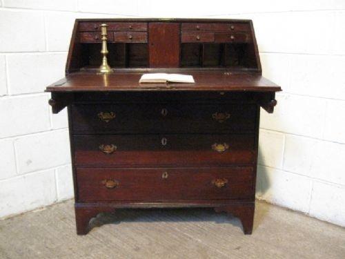 antique georgian solid oak bureau desk c1780
