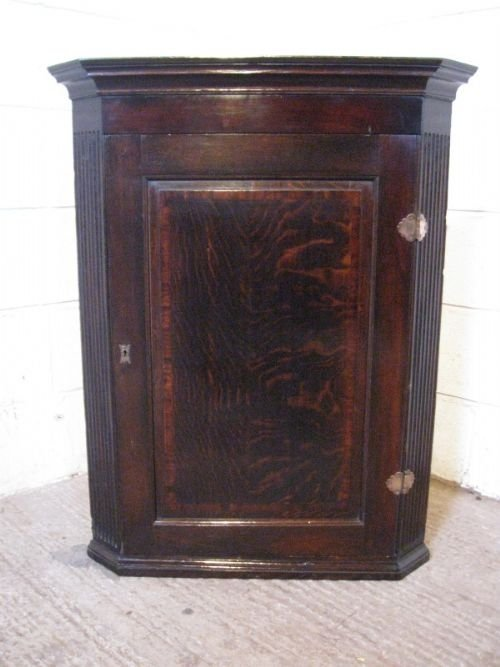 antique georgian country oak corner cabinet c1780
