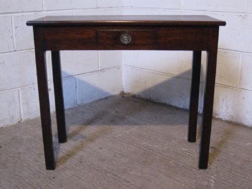 antique georgian mahogany side table desk c1780