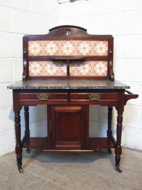 antique edwardian mahogany marble washstand c1900