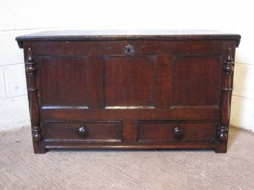 antique james 11 original oak coffer mule chest c1660