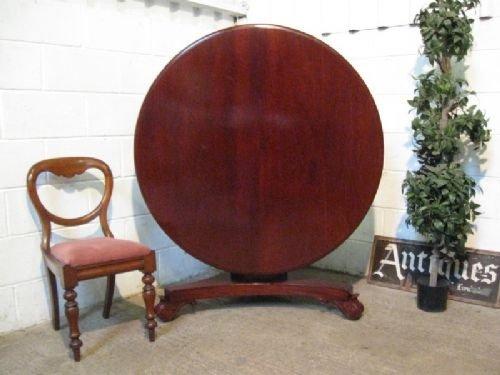 antique william 1v solid mahogany tilt top dining table c1820