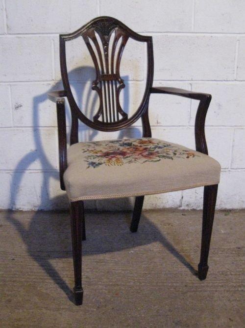 antique edwardian sheraton shield back mahogany side desk chair - Antique  Edwardian Sheraton Shield Back Mahogany - Antique Sheraton Furniture Antique Furniture