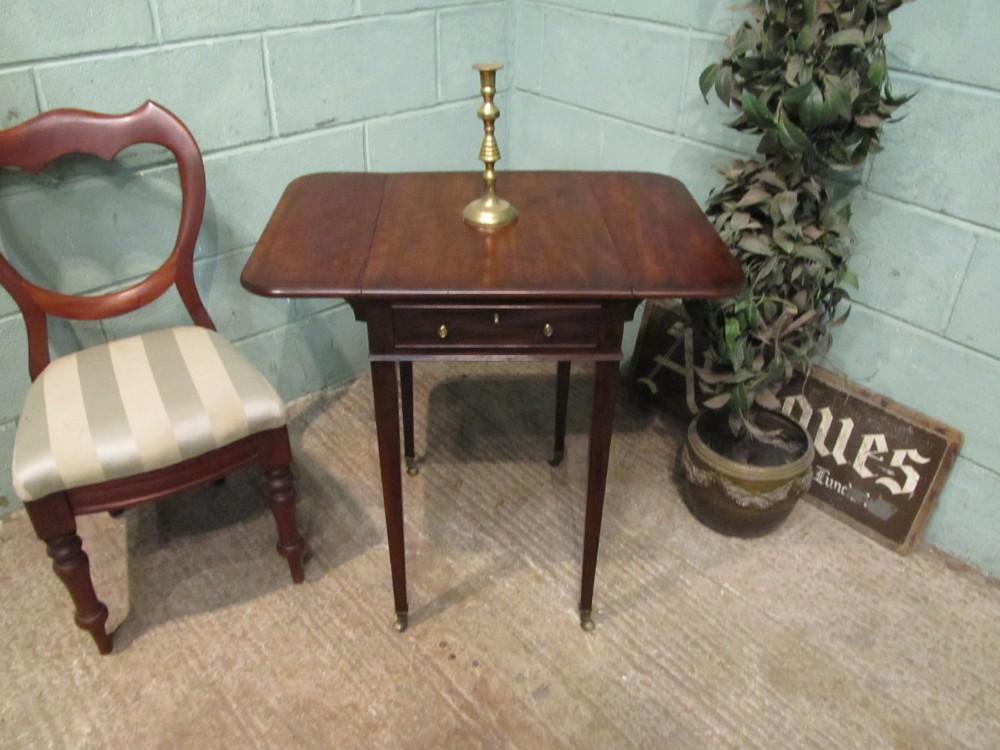 Antique Small Georgian Regency Mahogany Rosewood Drop Leaf Pembroke Side  Table C1820