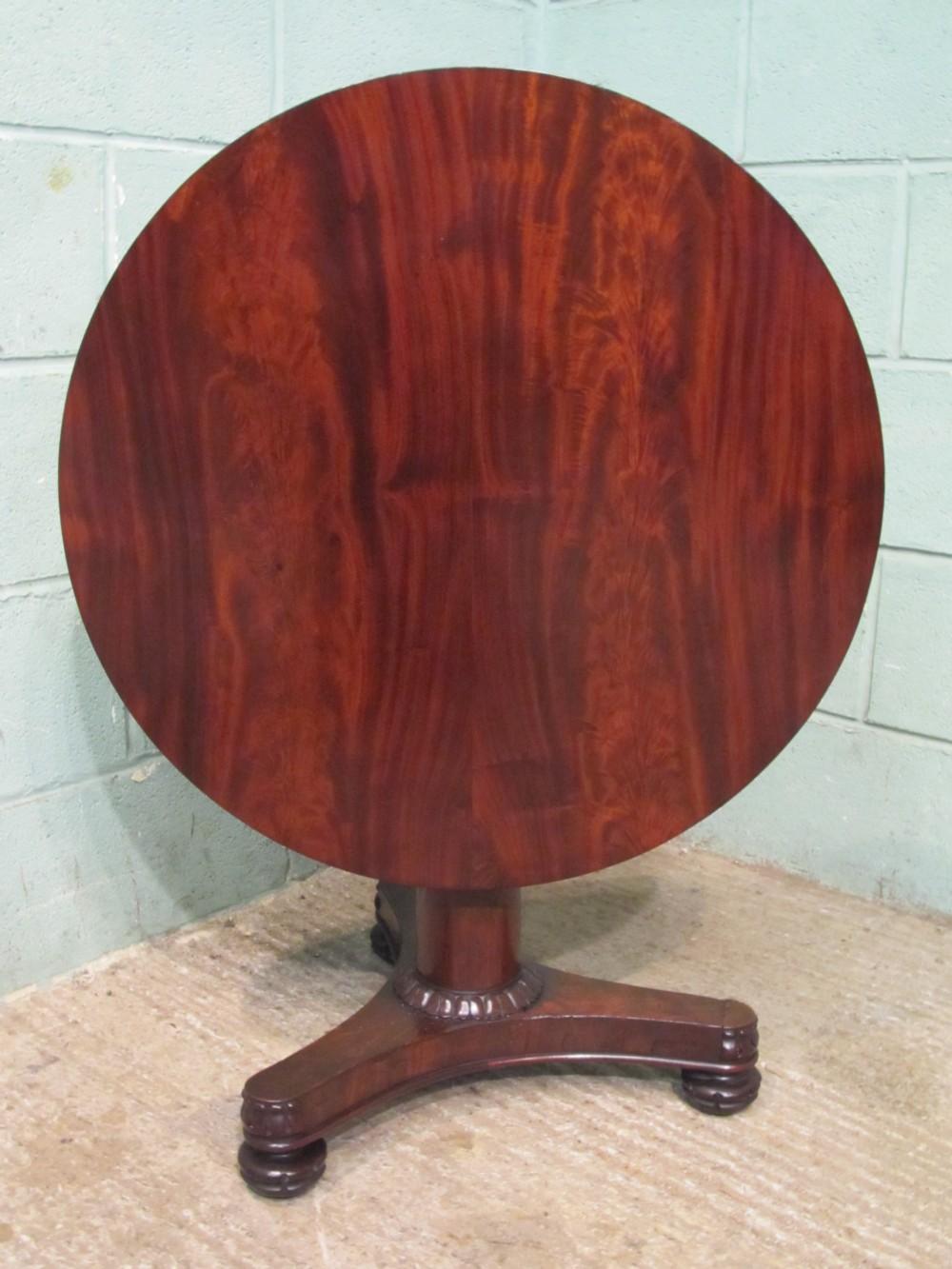 antique mahogany william 1v tilt top tea table c1830