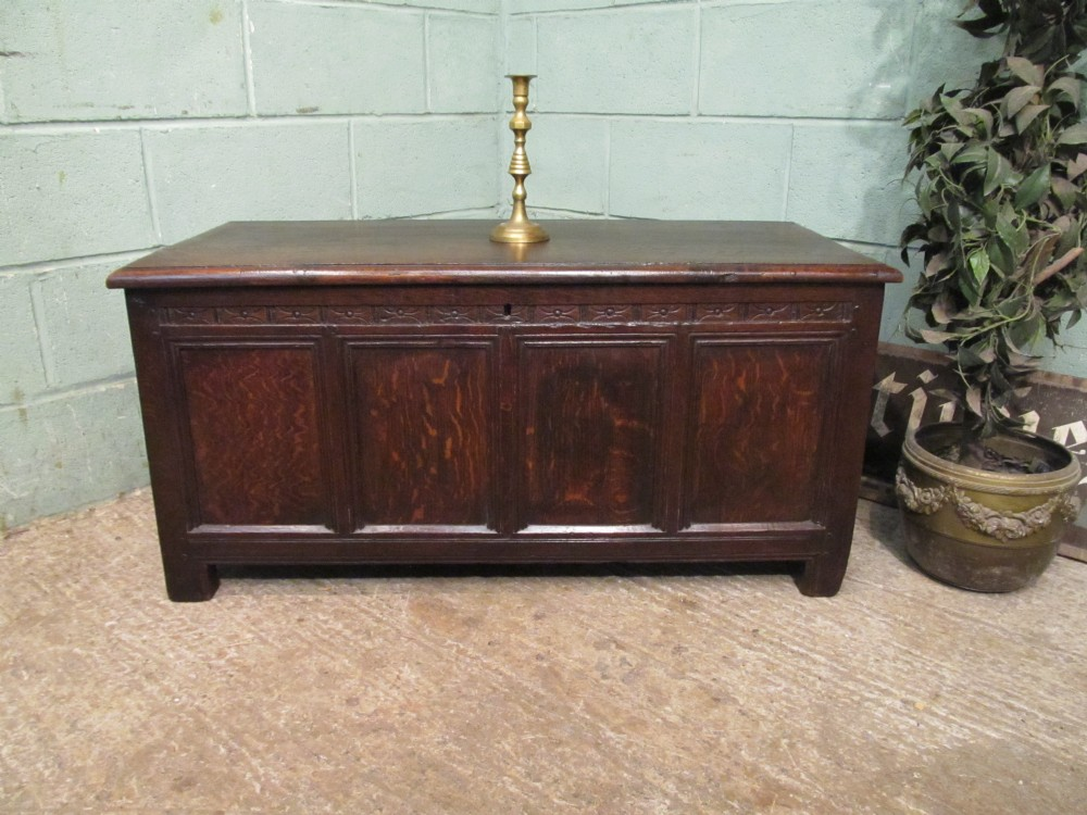 antique georgian period oak coffer c1780