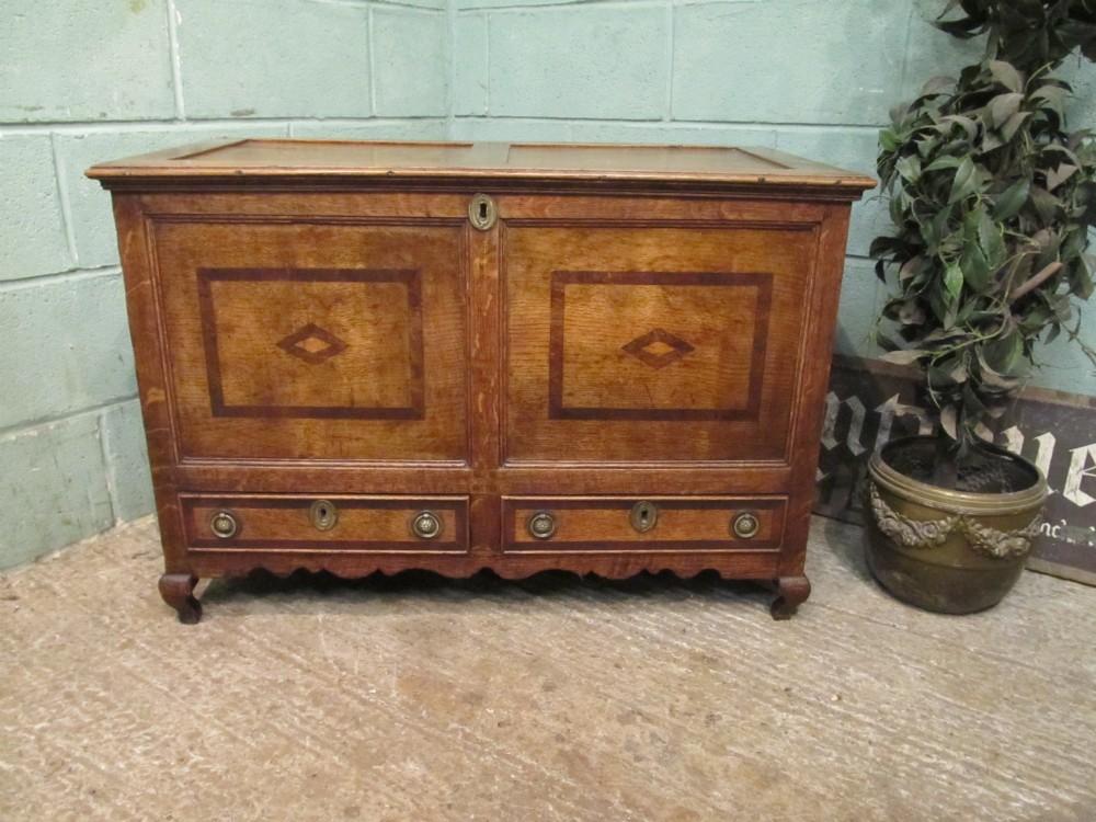 antique george 111 oak mule chest coffer c1780