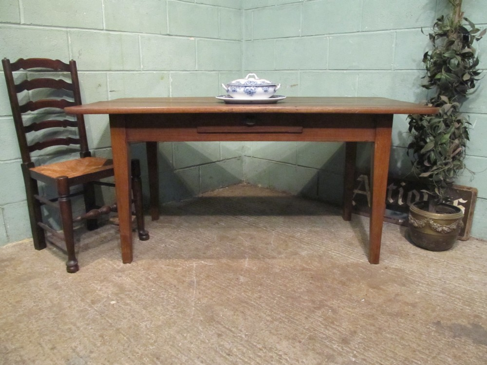 antique french victorian oak farmhouse kitchendining table seats 68 c1880