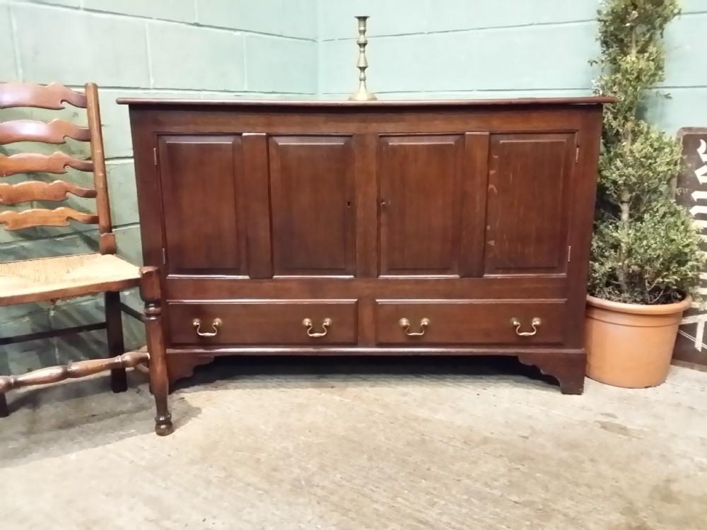 antique george iii oak mule chest c1780