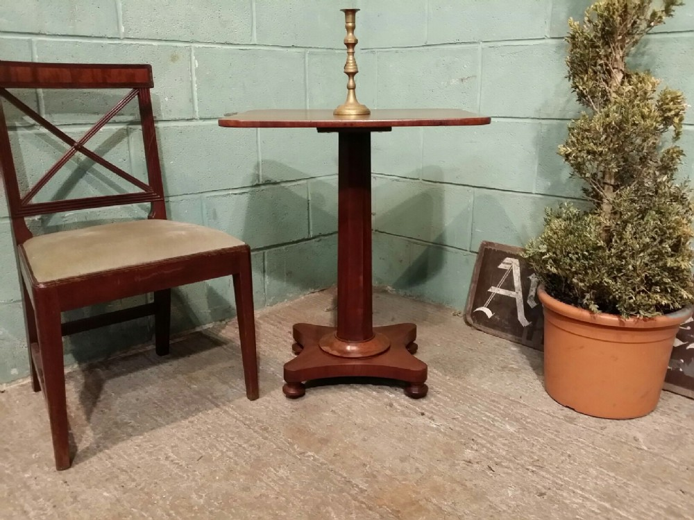 antique william 1v mahogany side lamp table c1830
