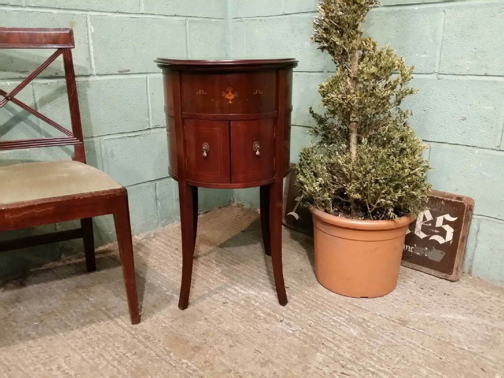 antique edwardian inlaid mahogany cocktail drinks cabinet c1900